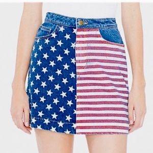 American Apparel American Flag Denim Skirt